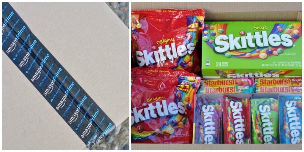 Skittles and Starburst from Amazon