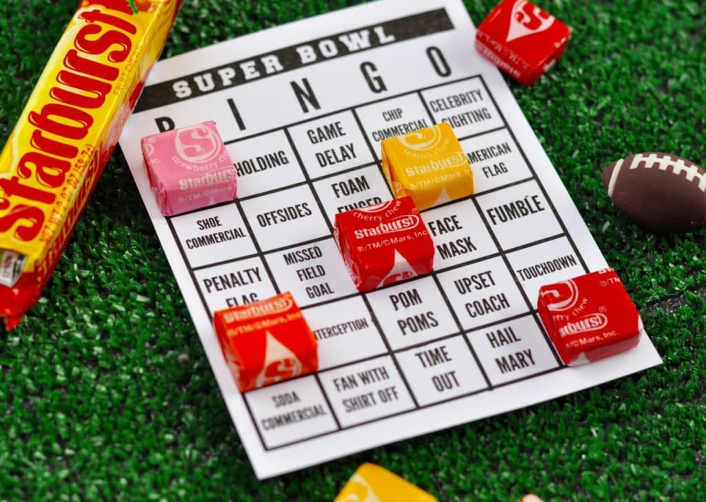 Super Bowl Bingo Cards Free
