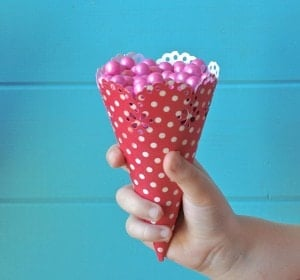 How to make candy cones