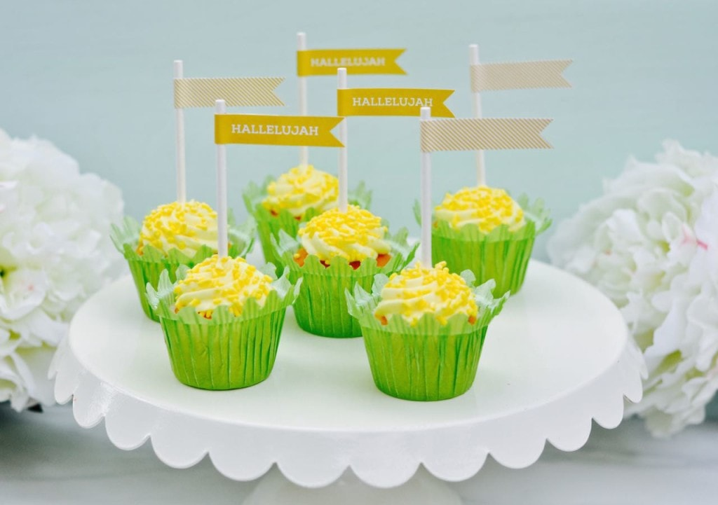 Christ-center Easter printable cupcake toppers