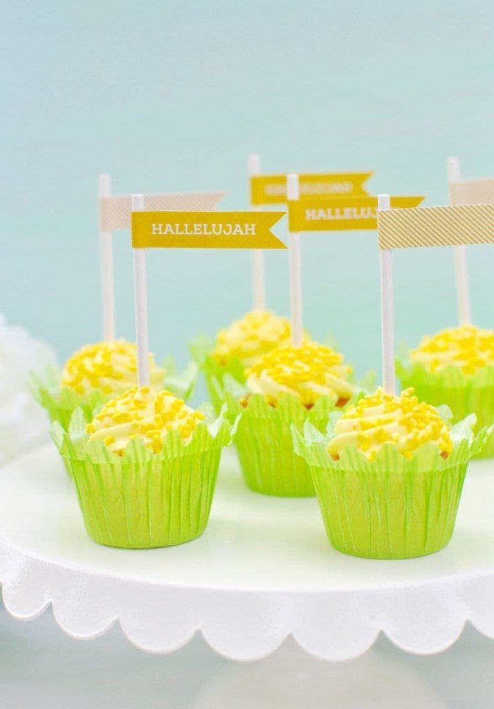 Free printable Easter cupcake toppers for a Christ-centered Easter