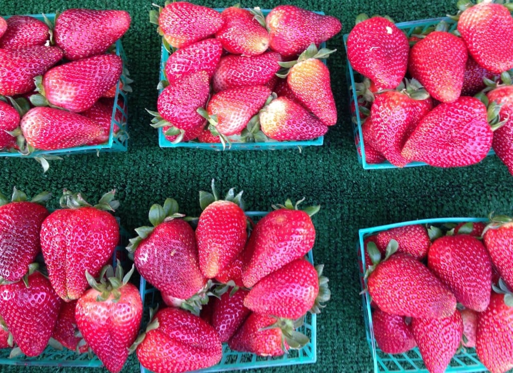 California grown strawberries at the Farmer's Market