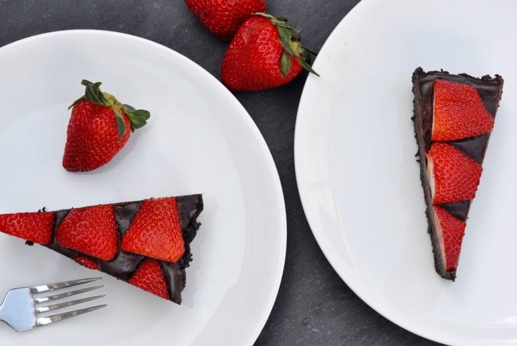 Strawberry chocolate tart dessert recipe