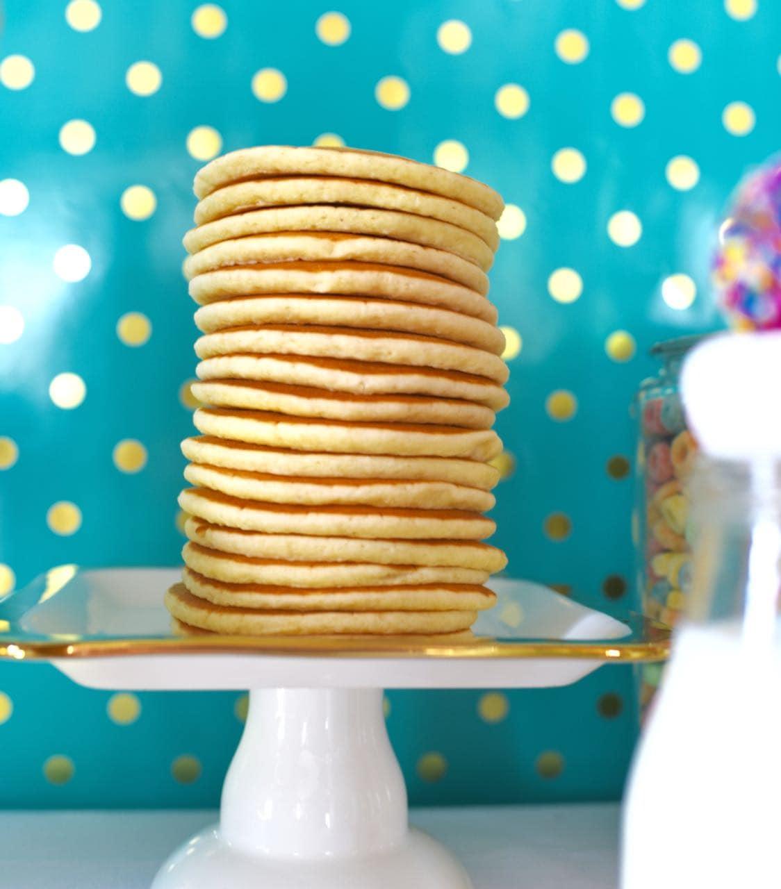 Pancakes and pajamas party food