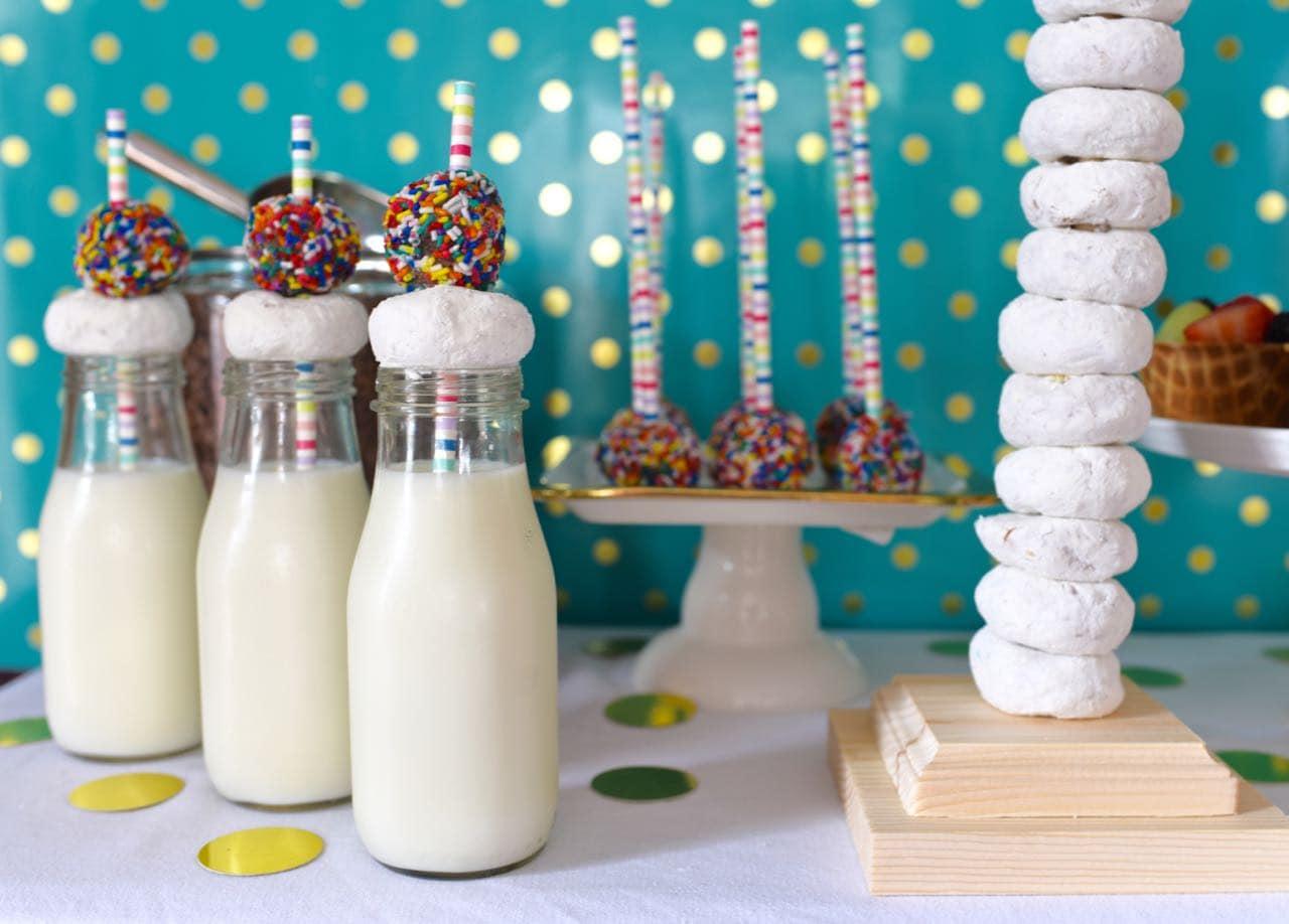 Pancakes and pajamas party display