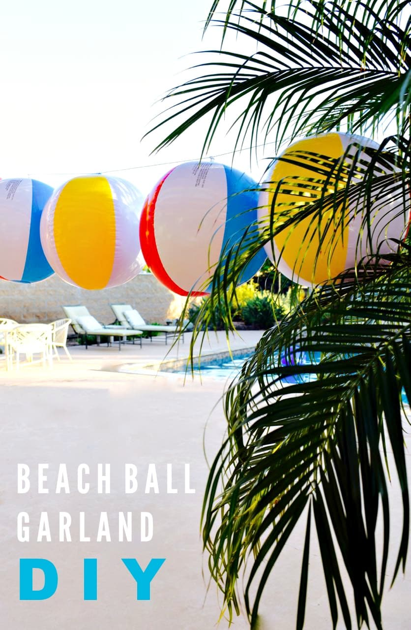 Beach Ball Garland DIY Tutorial