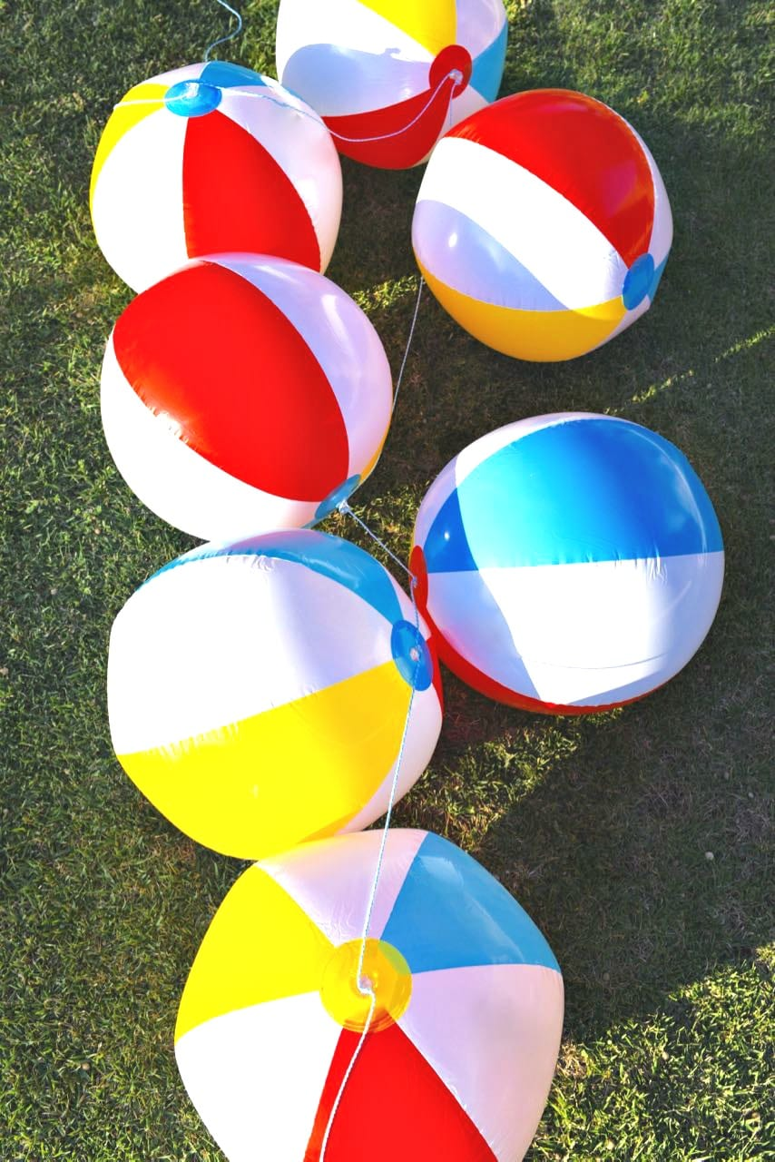 Beach ball garland tutorial