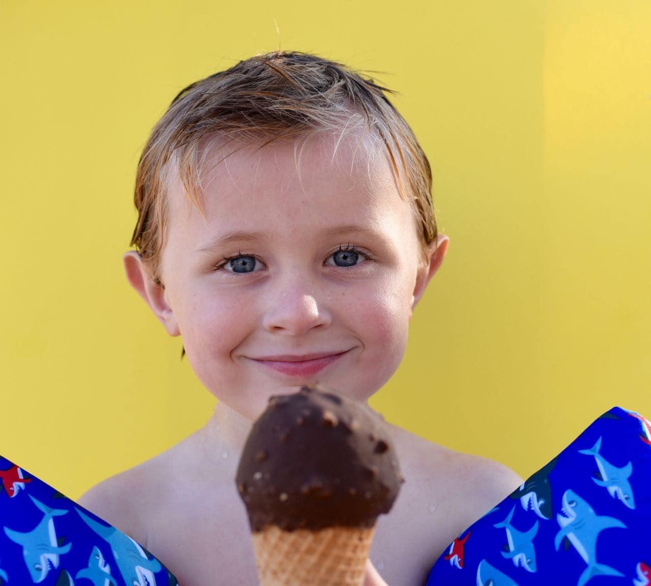 Ice cream pool party