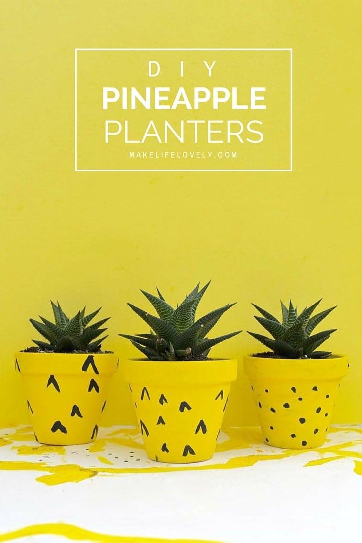 DIY Pineapple Planters Kids Craft