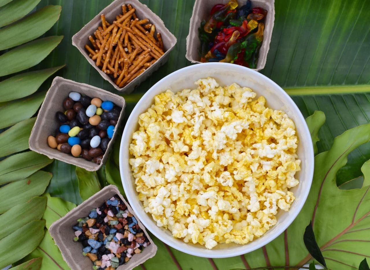 Dinosaur popcorn recipe for a dinosaur snack mix