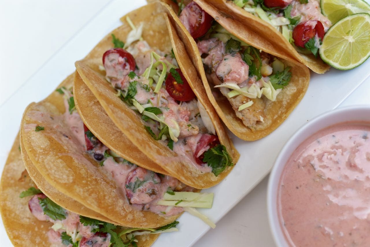Fish taco recipe that's easy to make with three ingredients in less than 5 minutes