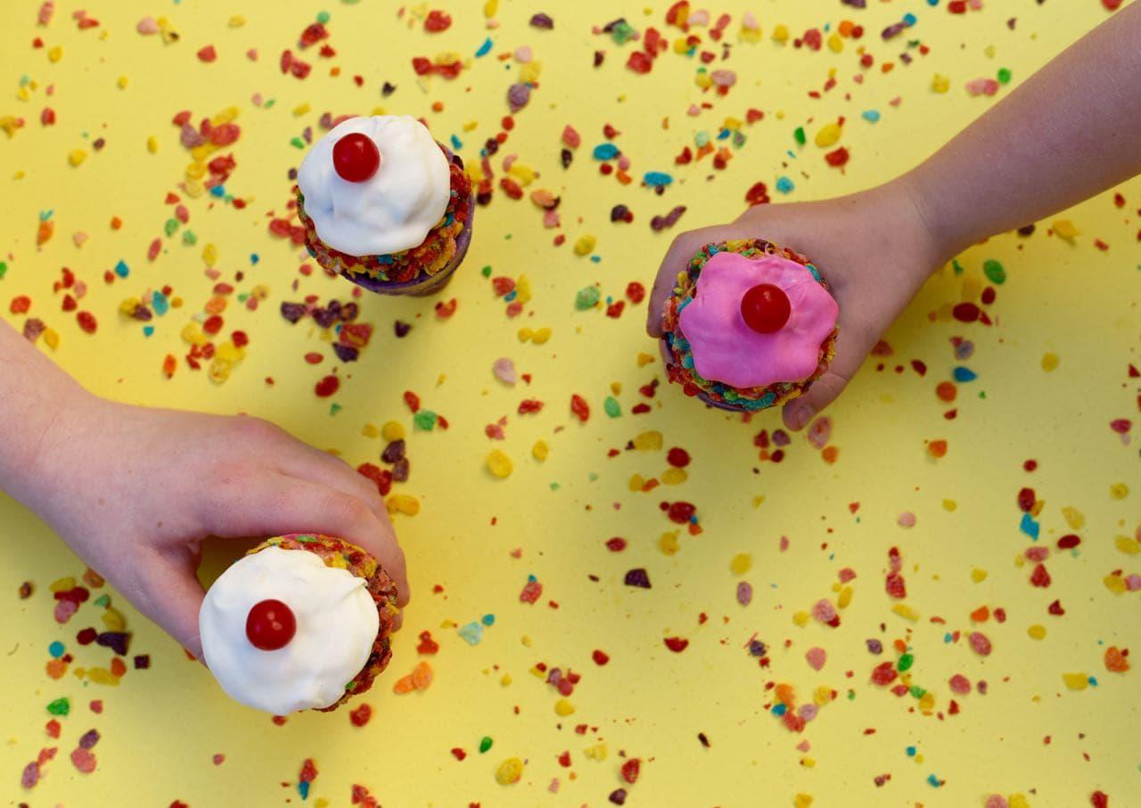 Fruity Pebbles Ice Cream Treats