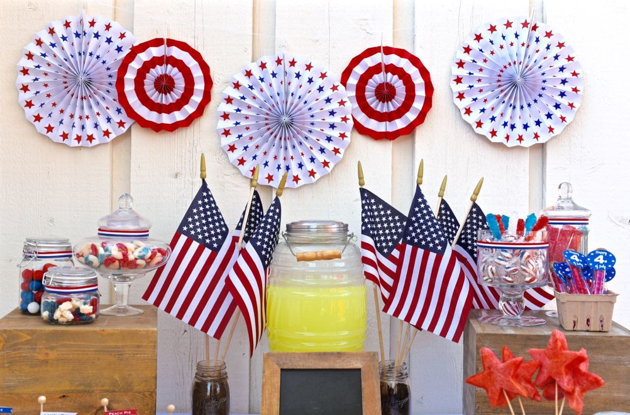 Old Fashioned Fourth of July Party Table
