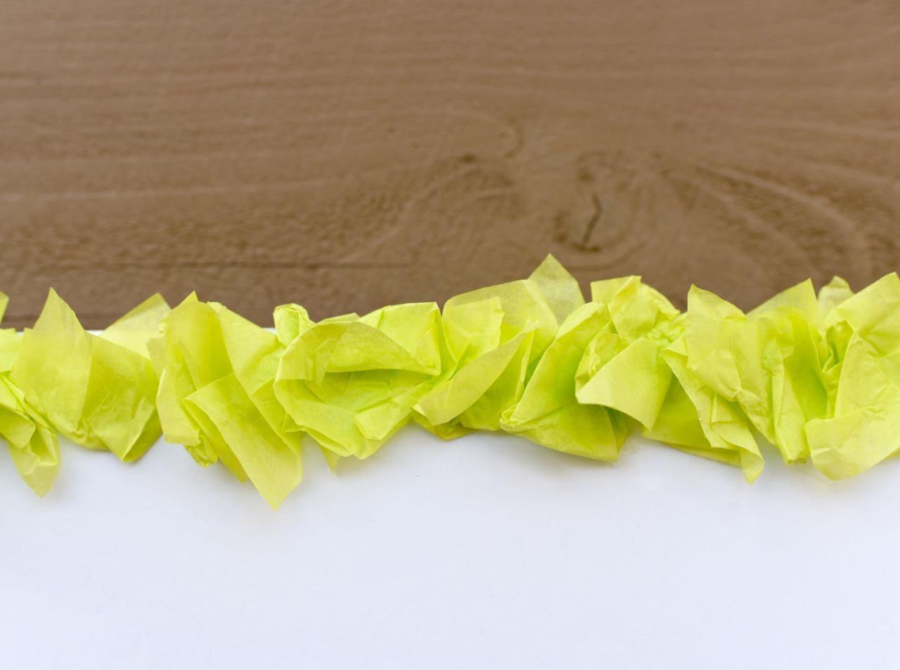 Tissue paper backdrop