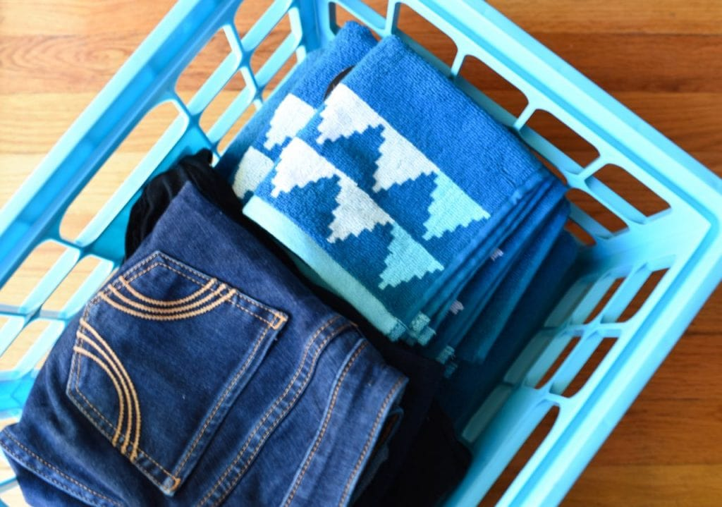 Colorful towels for a college dorm room