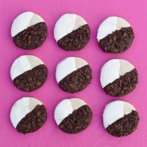 Black and White Cocoa Pebbles Cookies