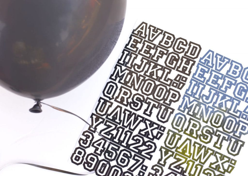 DIY Football Words Balloon