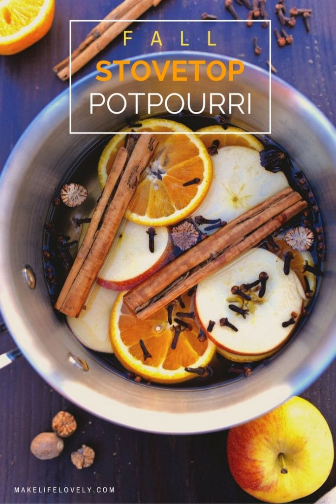 Fall stove top potpourri recipe that will bring the rich scents of fall into your home. This fall potpourri recipe uses all natural ingredients and takes just a few minutes to make.