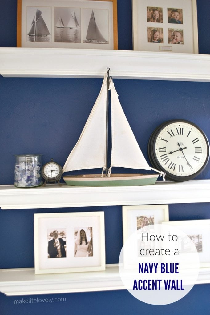 How to create a navy blue accent wall