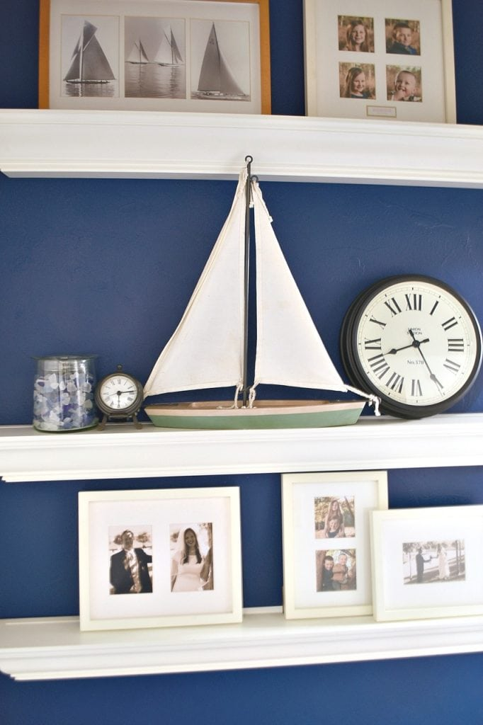 Navy Blue Accent Wall in Bedroom