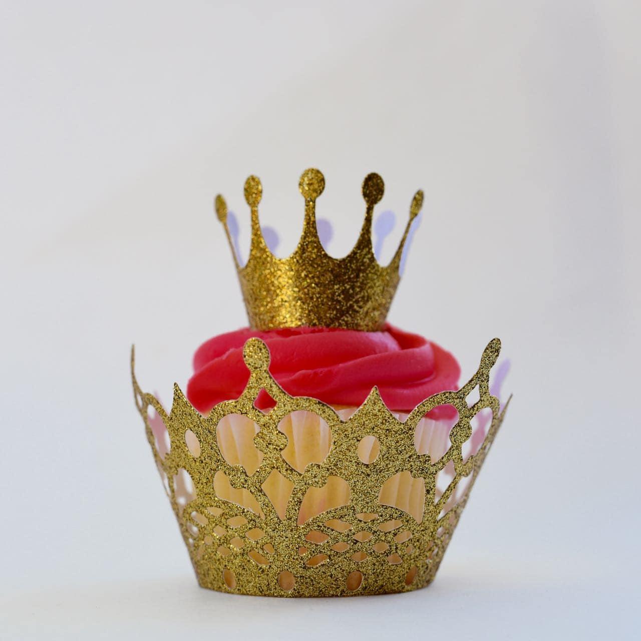 Princess Crown Cupcake Topper + Bottle Topper DIY
