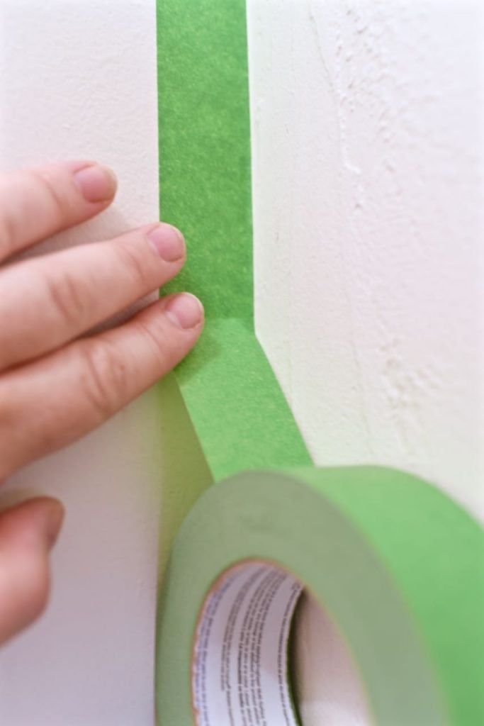 Using Frog Tape painter's tape