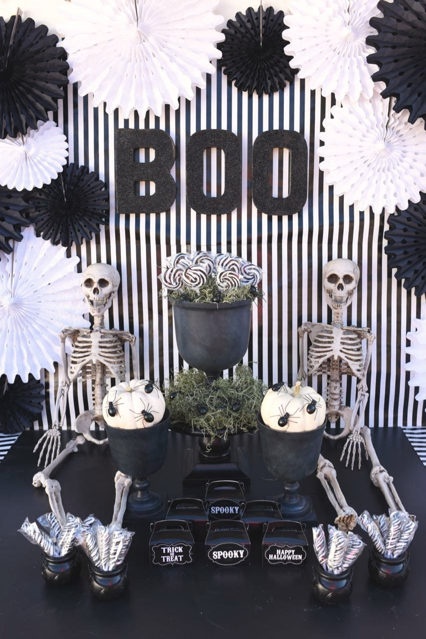 black and white halloween party - make life lovely