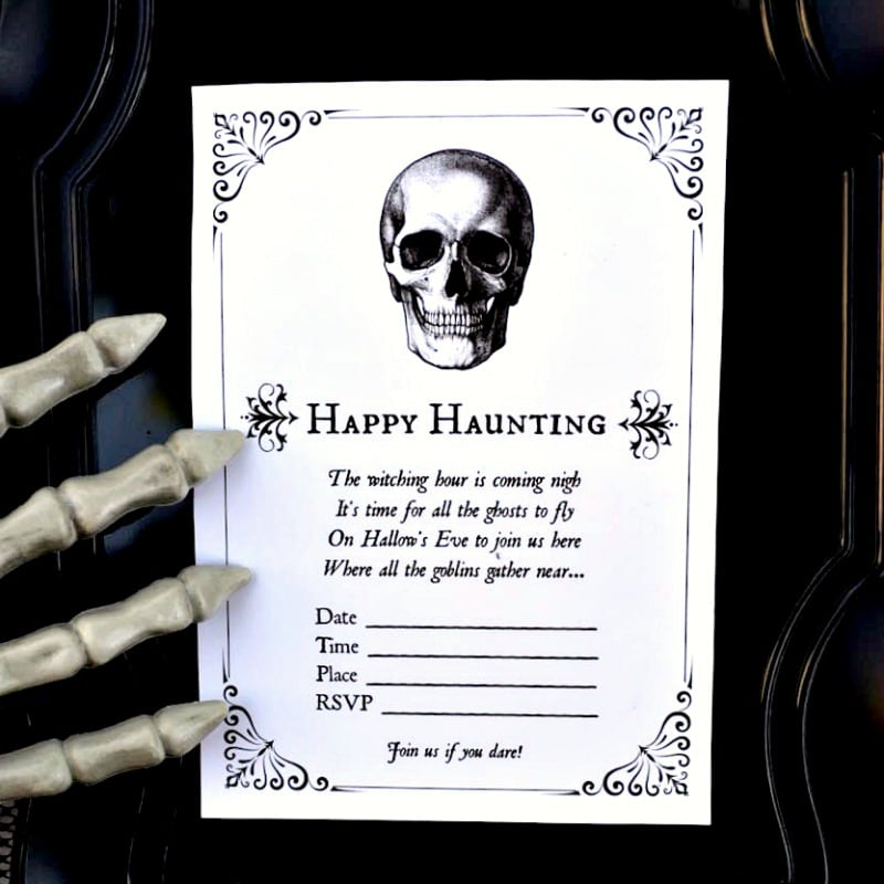 image relating to Halloween Invites Printable identified as Absolutely free Printable Halloween Invites for Your Spooky Soiree