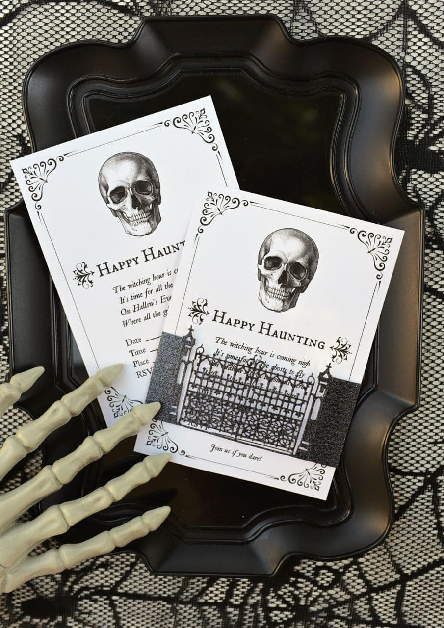 This is an image of Current Free Halloween Invites Printable