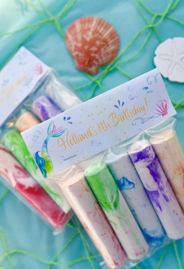 Mermaid party favors printables