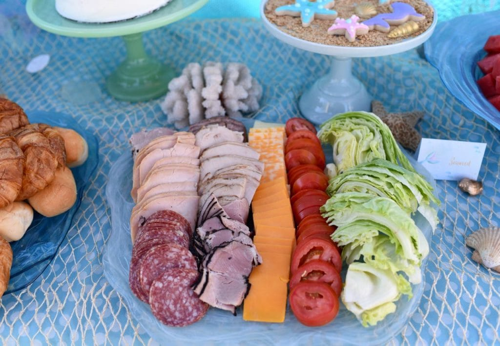 Mermaid party food sandwiches