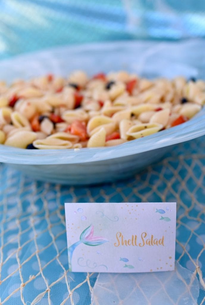 Mermaid party food shell salad