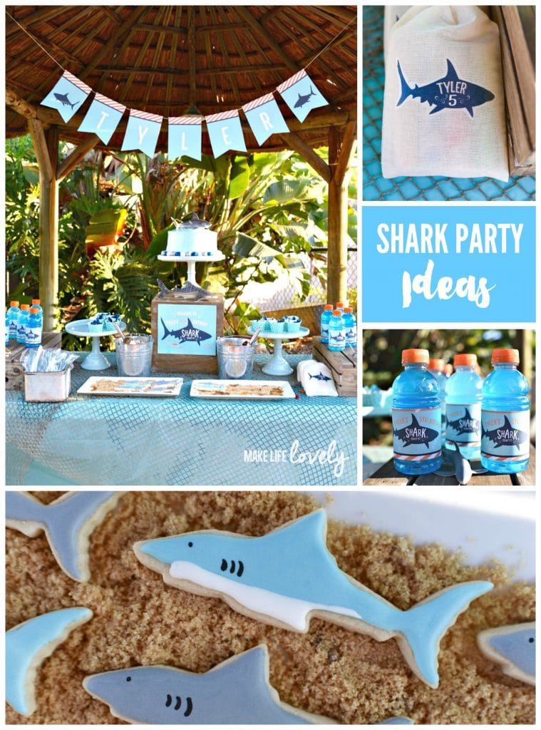 Shark Party Ideas.  SO many cute ideas for a shark birthday party!