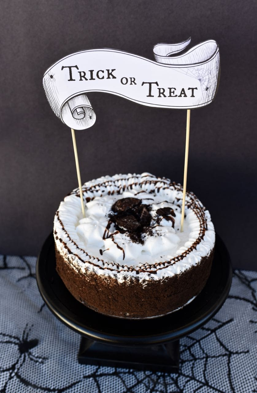 image about Printable Cake identified as No cost Printable Halloween Cake Topper - Produce Lifestyle Magnificent