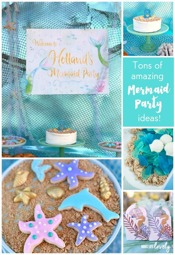 Mermaid Party Ideas. You'll love this mermaid party and the creative decorations, food, and more!