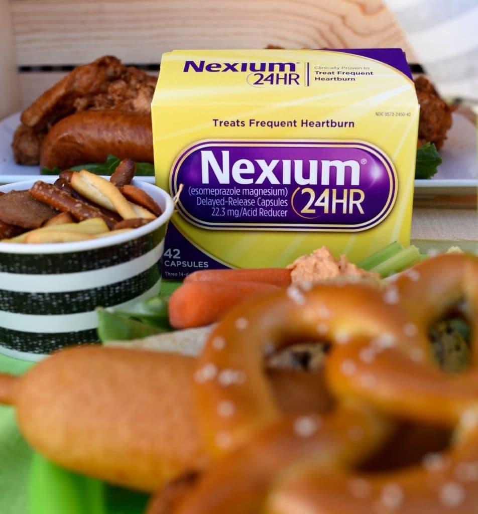 Nexium heartburn medicine.