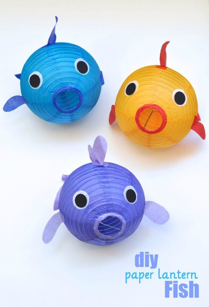 Paper lantern fish tutorial