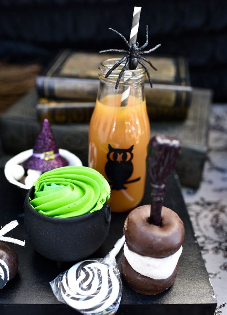 Witch Halloween Party with lots of great Halloween snack ideas