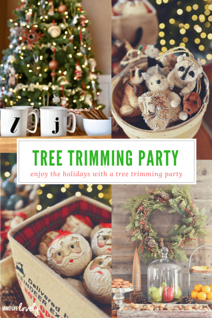 Celebrate the season with a lovely tree trimming party with family and friends. Such a fun idea!