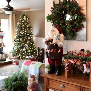 Christmas living room decorations with Balsam Hill