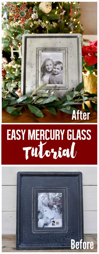 Easy mercury glass frame tutorial from a thrift store frame