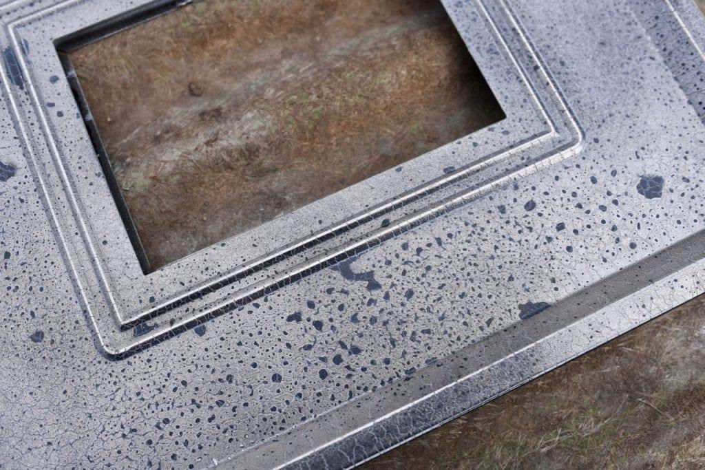 Mercury glass frame details