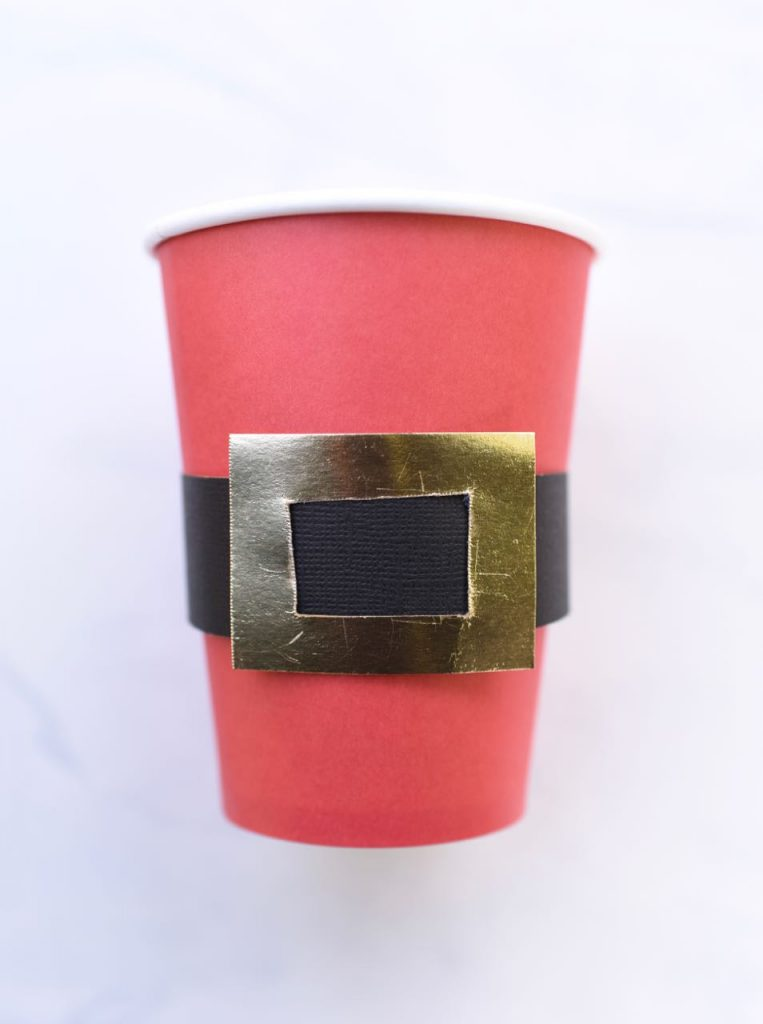 Santa belt cups tutorial