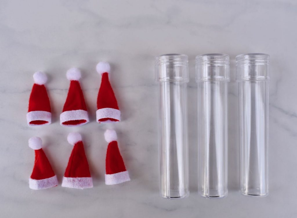 Santa candy test tube treats supplies