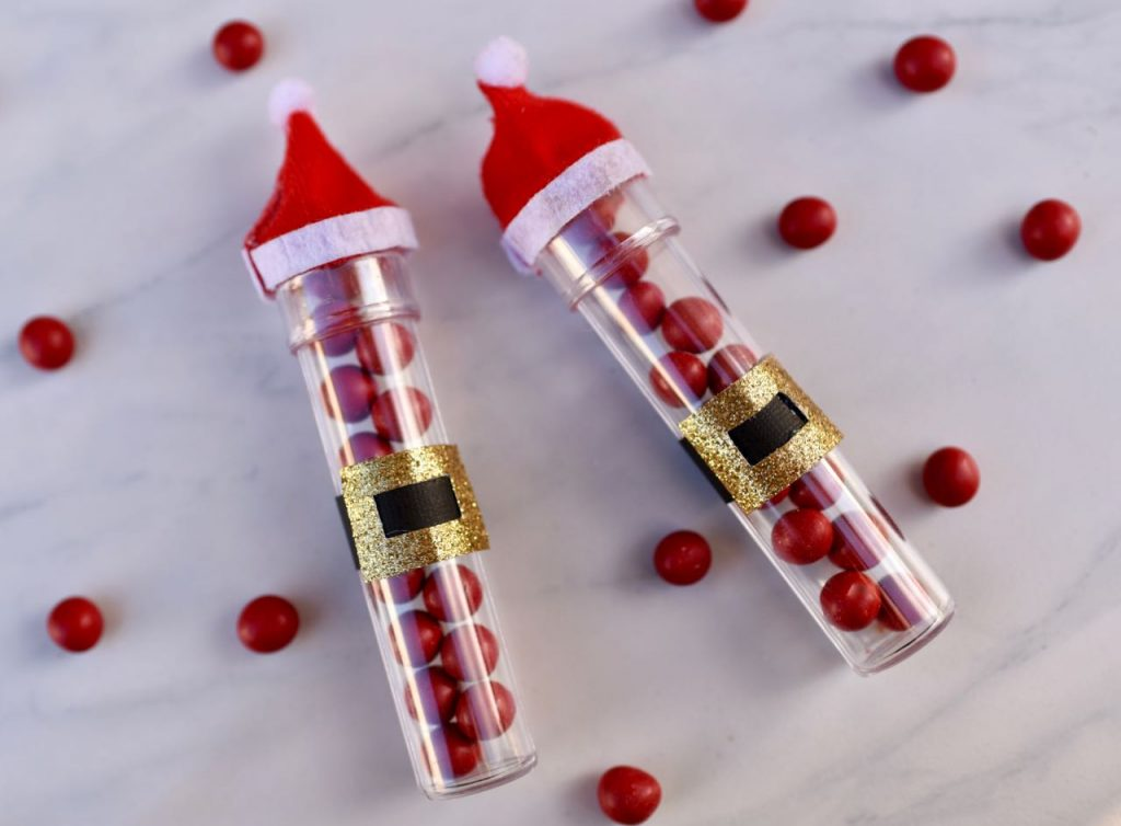 Santa candy tube treat for Christmas