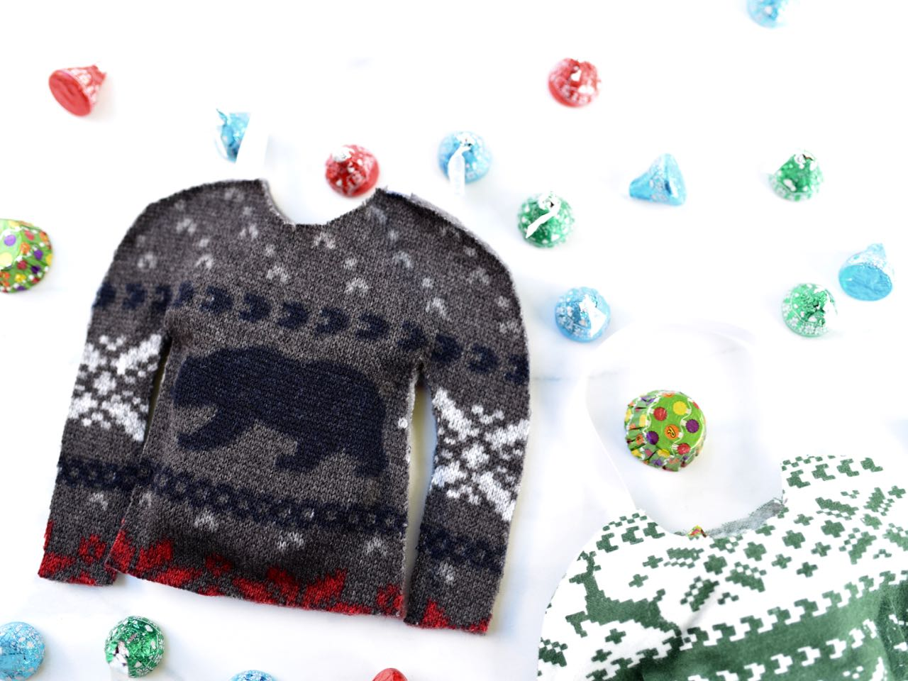 Ugly Christmas Sweater Treat Bags - Make Life Lovely