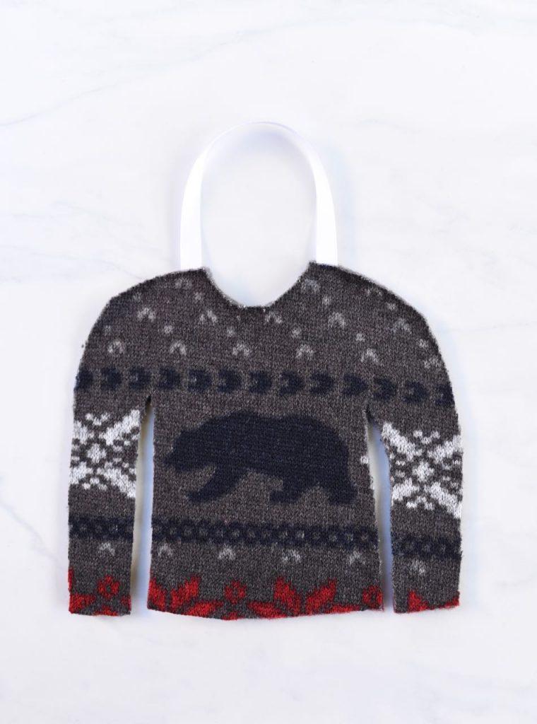 Ugly sweater favor bag