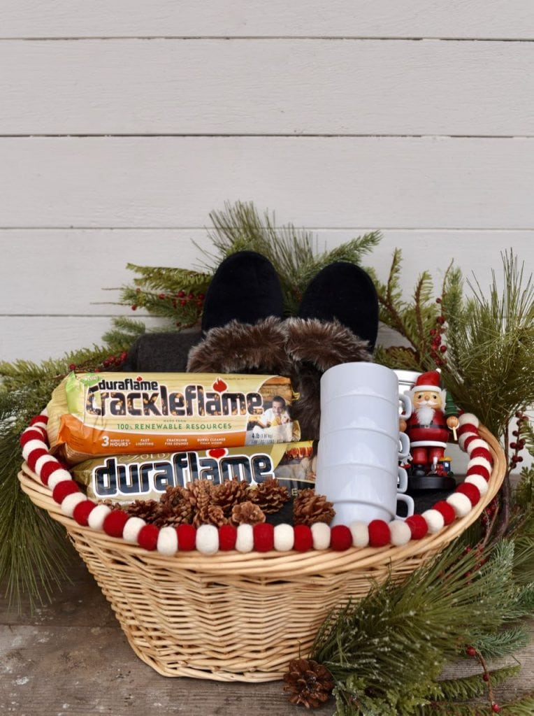Cozy winter gift basket idea
