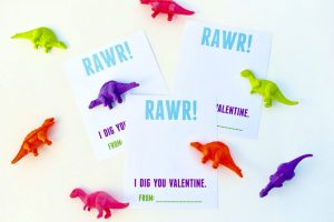 Dinosaur Valentines Printable for Kids