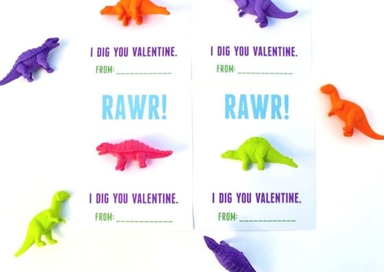 photo regarding Free Printable Dinosaur known as Dinosaur Valentines Printable for Small children - Create Lifestyle Magnificent